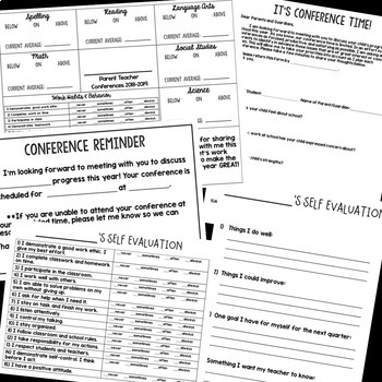 Conference Pack- Conference Forms to keep you ORGANIZED!