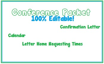 Conference Packet *Fully Editable*