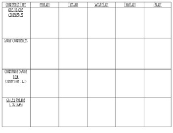 Conference Planning Sheets