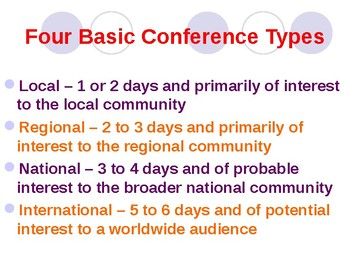 Conference Planning and Organization