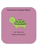Conference Progress Report
