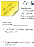 Conference Questionnaire for Parents