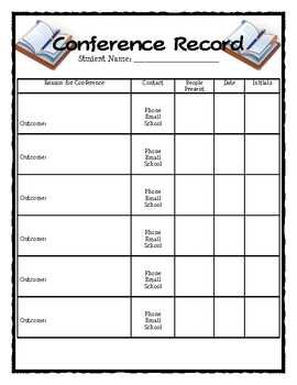 Conference Record Form
