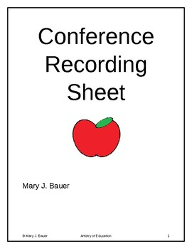 Conference Recording Sheet