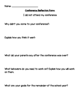 Conference Reflection Forms