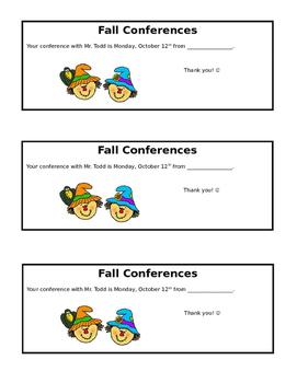 Conference Reminder