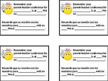 Conference Reminder - English & Spanish