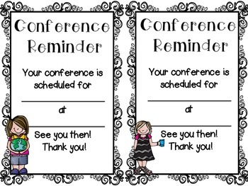Conference Reminder FREEBIE
