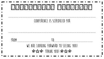 Conference Reminder Letter