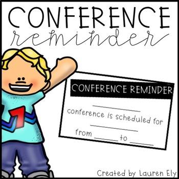 Conference Reminder Note - Freebie!