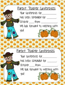 Parent-Teacher Conference Reminder