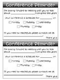Conference Reminder Slips