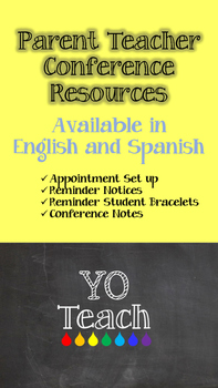 Conference Reminder Slips and Teacher Parent Notes Spanish