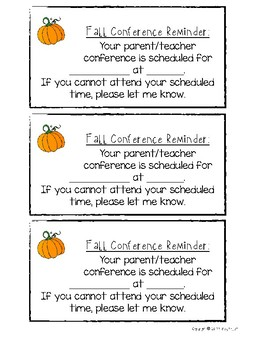Conference Reminder Template