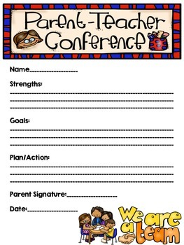 FREEBIE:  Conference Reminder and Goal Sheet