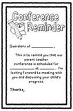 Conference Reminder, half sheet