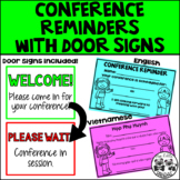 Conference Reminder with Door Signs *English and Vietnamese*