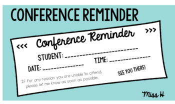 Conference Reminders