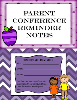 Conference Reminders- different patterns {PRINT AND GO}