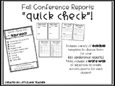 Conference Reports! (Quick Check)!