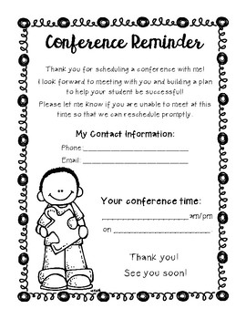 Conference Request & Reminder
