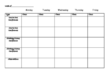 Conference Schedule-5th grade