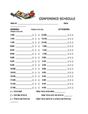 Conference Schedule Summary Form