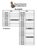 Conference Schedule and Bilingual Slips for Sign-Ups, Conf