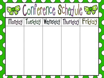 Conference Schedule for Flexible Scheduling