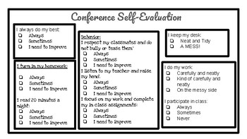 Conference Self Evaluation
