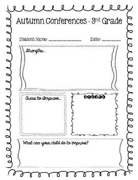 Conference Sheet - Blank, Editable Template - FREEBIE