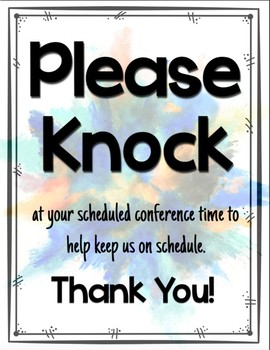Conference Sign - Please Knock