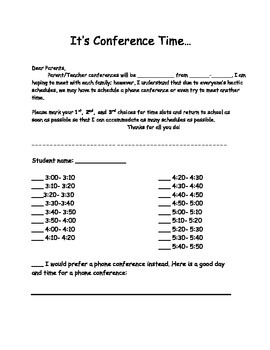 Conference Sign Ups
