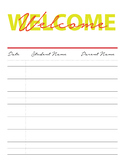 Conference Sign-in Sheet