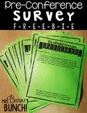 Conference Survey Freebie