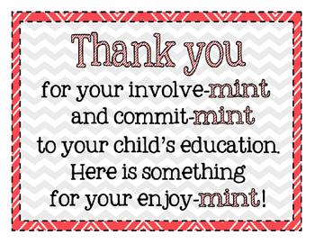 Conference Parent Thank You Mint