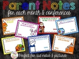 Parent Notes for Each Month and Conferences