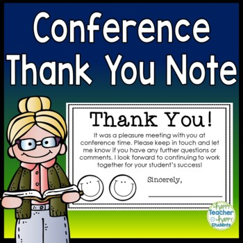 Conference Thank You Note