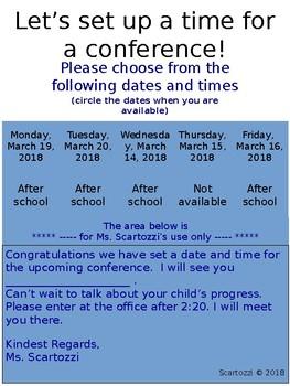 Conference Time Setup