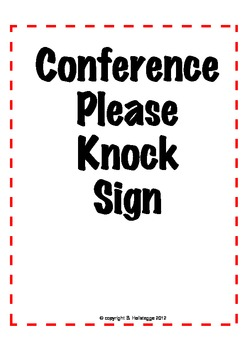 Conference Time Sign