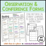 Observation and Conference Forms: Find Patterns in Student Learning
