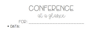 Conference at a Glance