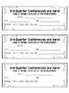 Conference slips