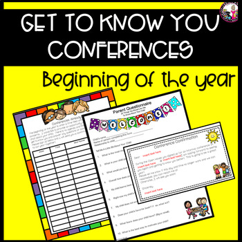 Conferences!  Beginning of the Year!  Informal!