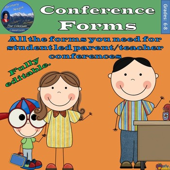 Conference Forms for Student-Led Conferences