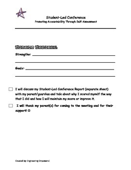 Conferences - Let the student take the lead!