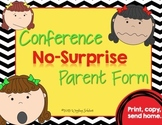 Conference Form: Pre-conference Information for the Teacher