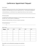 Conferences Sign Up Sheet