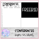 Conferences Sign-in Sheet