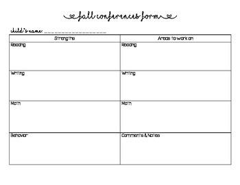 Conferences form